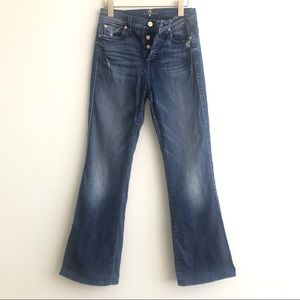 7FAM high waist vintage bootcut size 25